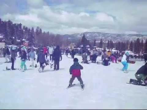 Max ski at age 6