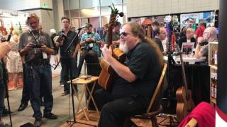 ben lacy performs mark morrisons return of the mack at the tonewood amp booth