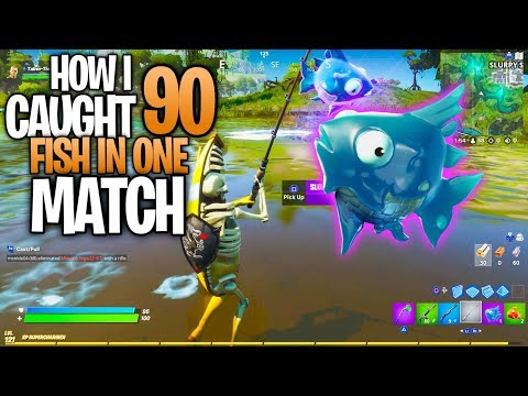 How I Caught Over 90 Fish In One SINGLE Match (Fortnite)