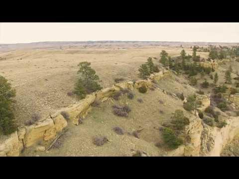Sacrifice Cliff (Four Dances Natural Area) Drone Shots in Billings Montana