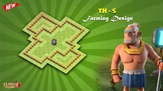 Town Hall -5 { TH - 5 }Ultimate Farming / Loot Protection Base { #2018 } | Clash of Clans
