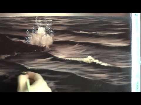 Sepia Sea  Painting Lesson