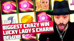 TOP 3 BIGGEST CRAZY WINS IN CASINO | ROSHTEIN | LUCKY LADY'S CHARM DELUXE 6 | NEW NOVOMATIC