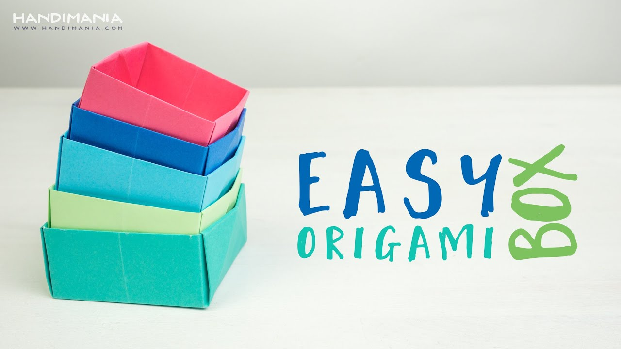 Easy Origami Box - YouTube - photo#33