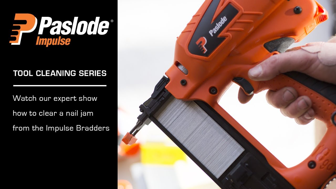 How to fix a Nail Jam in the Paslode Impulse Bradder - YouTube