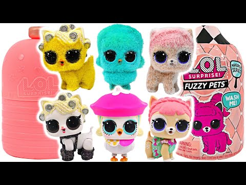 LOL Surprise Fuzzy Pets! Style Makeover Series Surprise Blind Bags #PinkyPopTOY