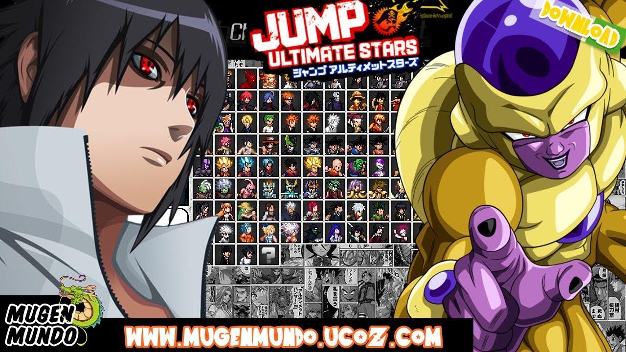 Jump Ultimate Stars Reborn V3 (FULL GAME DOWNLOAD) #Mugen #AndroidMugen  #MugenAndroid #MugenAndroid