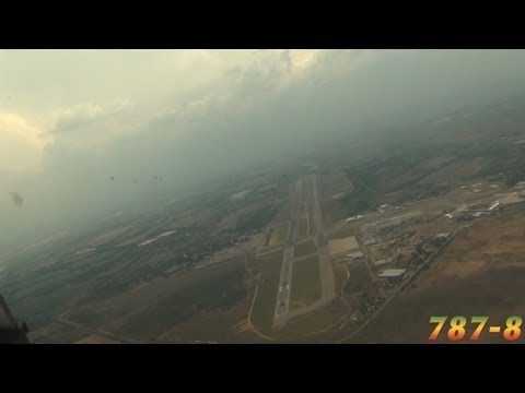 PilotCAM View into Harare (Boeing 787)