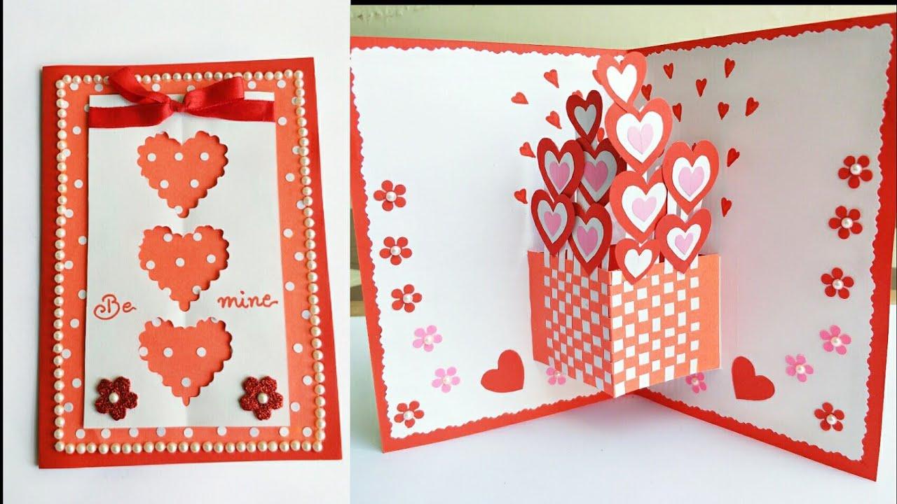 Diy Valentine Pop Up Card How To Make Pop Up Card For Valentine