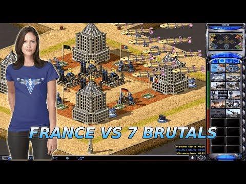 Red Alert 2 Yuri's Revenge - 7v1 brutal enemies