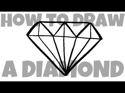 How To Draw Diamond Two Versions