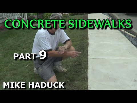How I float finish concrete (part 1 of 7) Mike Haduck