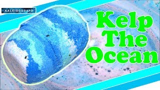 Kaleidosoaps KELP THE OCEAN Bath Bomb Demo & Review Underwater View