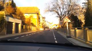 Fahrtipps: Schmale Strasse mit Bordstein