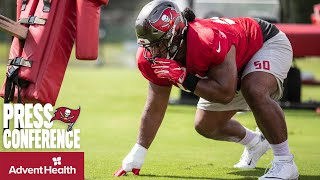 Vita Vea on Bucs Postseason, Return from Injury | Super Bowl LV Press Conference