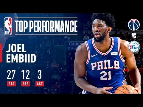 Joel Embiid Shows Off His Jumper En Route to 27 Pts | February 6, 2018
