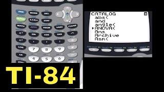 TI-84 Calculator - 07 - Math Menu and Catalog Menu