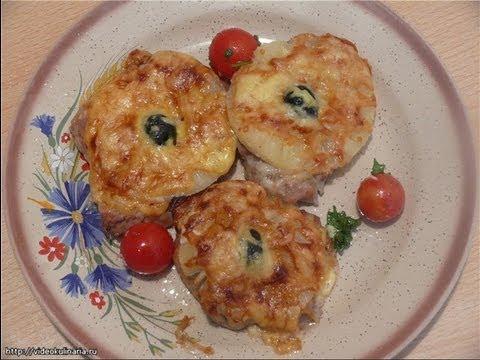 Рецепт-Мясо с ананасом  от videokulinaria.ru