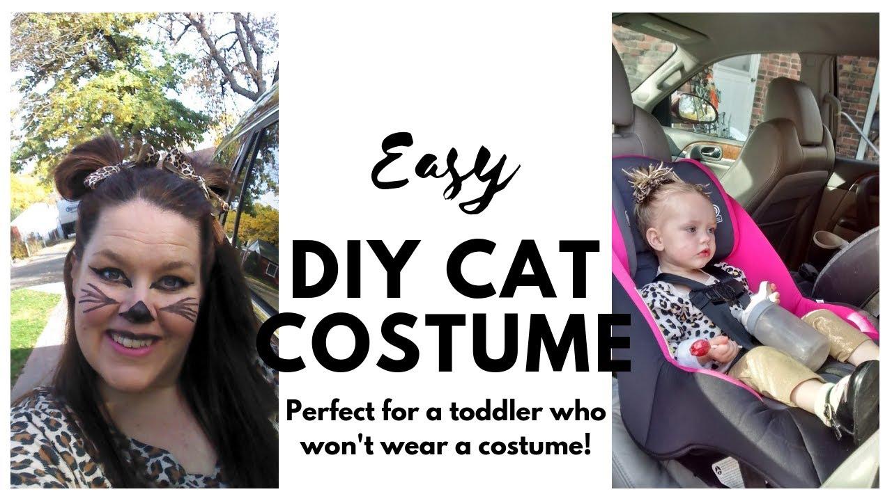 Diy Cat Costume Easy Halloween Costume 2018 Youtube