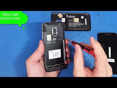 Moto G4 Play troca do frontal, touch e display com aro