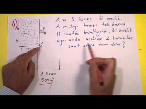 Işçi Havuz Problemleri Soru çözümü - şenol Hoca Şenol Hoca Matematik