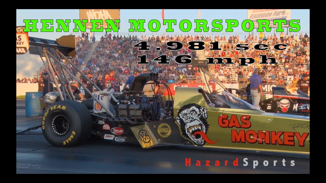Gas Monkey Garage Hennen Motorsports Top Fuel Dragster 4 981 sec