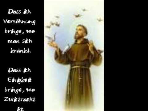 Franz Von Assisi Friedensgebet