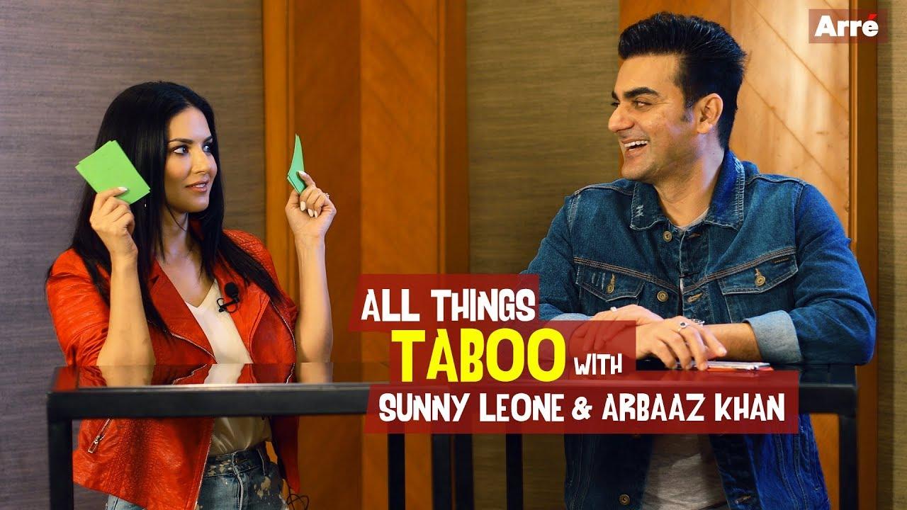 Sunny Leone and Arbaaz Khan Play Taboo   Tera Intezar