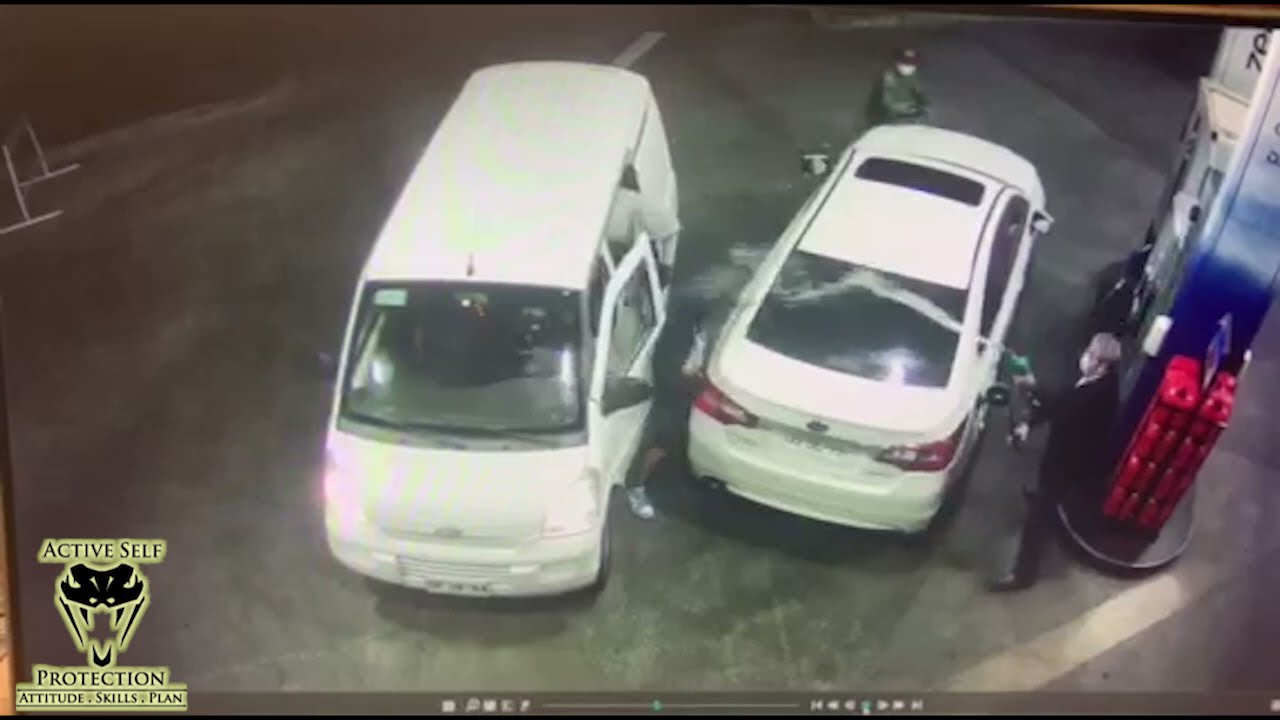 Crafty Defender Uses Gas Pump To Defend Against Robbers