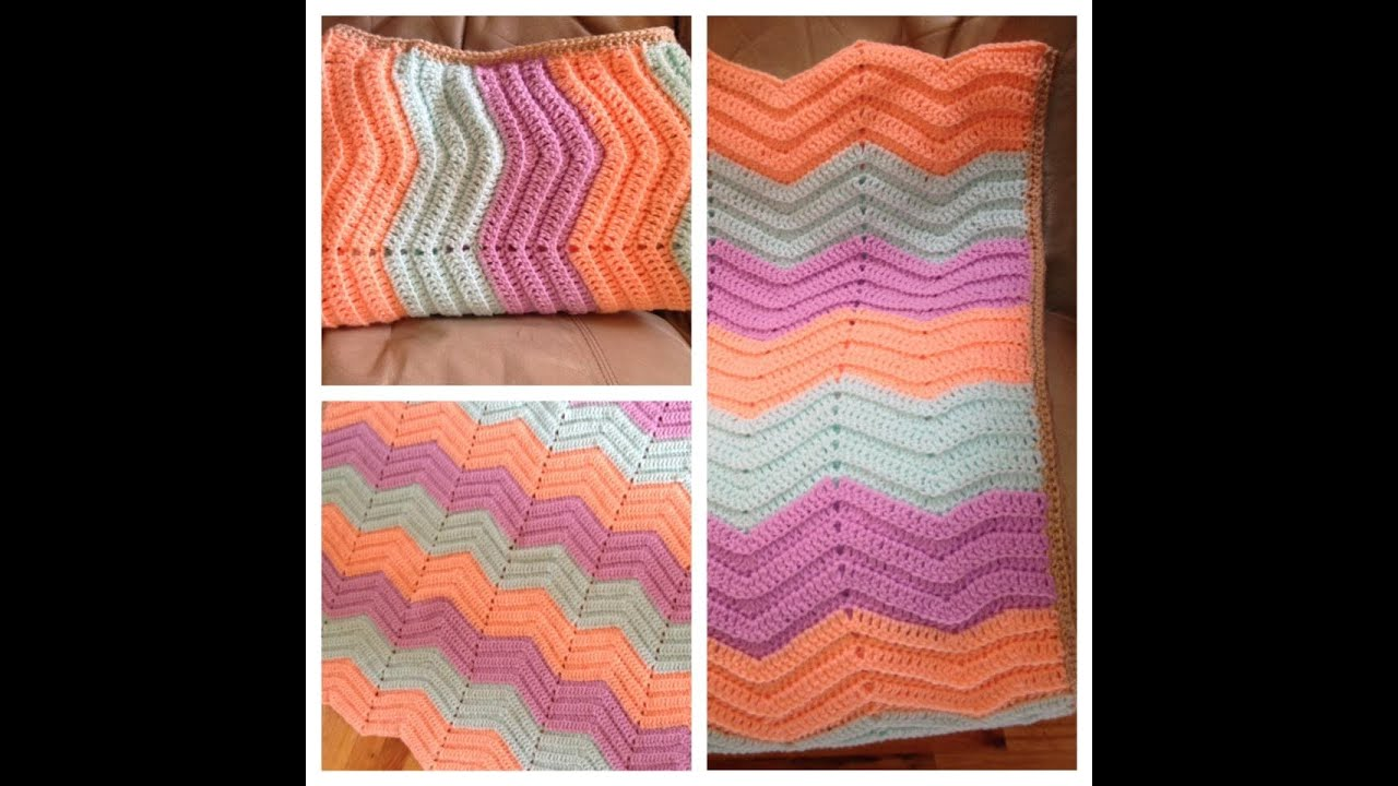Crochet Baby Ripple blanket - Zig Zag Afghan - chevron afghan ...