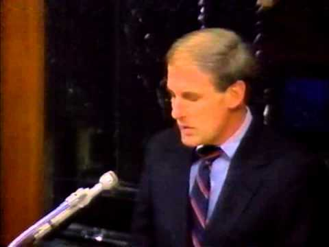 February 1989 - New US Senator Dan Coats Addresses Indiana General Assembly