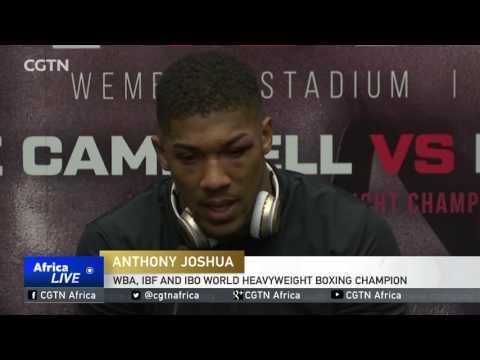 World Heavyweight Boxing Title: Anthony Joshua stops Wladimir Klitschko in the 11th round