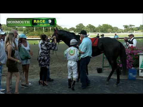 video thumbnail for MONMOUTH PARK 7-20-19 RACE 9 – WOLF HILL STAKES