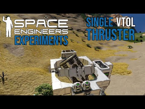 Space Engineers Experiments: Single Thruster Vector Thrust VTOL