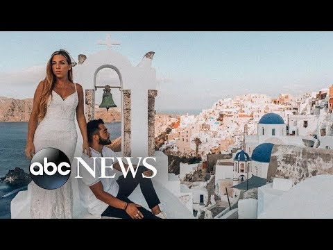 This woman wore her wedding dress on her honeymoon around the world l GMA Digital