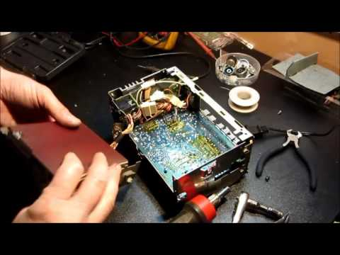 Delco ETR radio - repair static, thumping, popping, and right-channel weak audio...