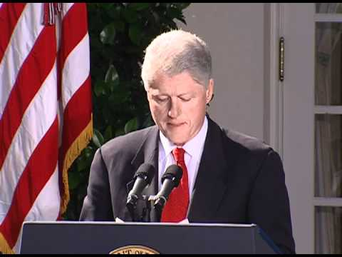President Clinton Addressing the Press on the USS Cole Attack