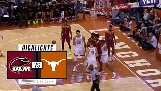 UL Monroe vs. Texas Basketball Highlights (2018-19) | Stadium