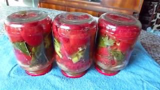 """""""Помидоры дольками""""  Рецепт консервированных томатов. Заготовки на зиму!"""