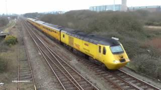 Class 43 Test Train Landore - Derby  18 01 2017