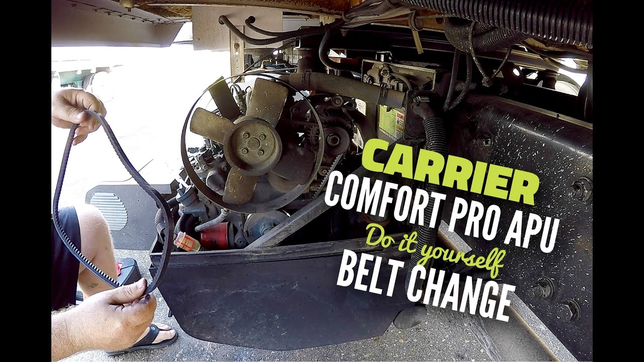 Carrier Comfort Pro APU Alternator Belt Change | APU Maintenance |  Expediter Team