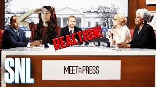 Meet The Press Cold Open - SNL - REALLY REAL REACTION!!!