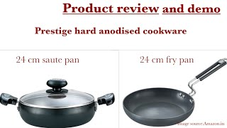 Prestige hard anodised pan review and demo Amazon product review