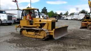 Sold! International Harvester 500C Crawler Tractor Dozer 6 Way bidadoo.com