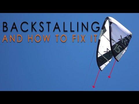 Backstalling - how to spot it & fix it (kiteboard tutorial)