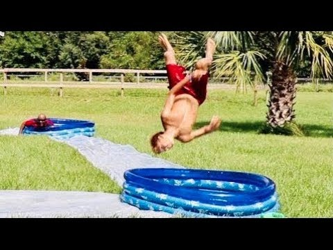 EXTREME Slip N Slide KICKBALL! & OMG! Jayden's  TEETH!