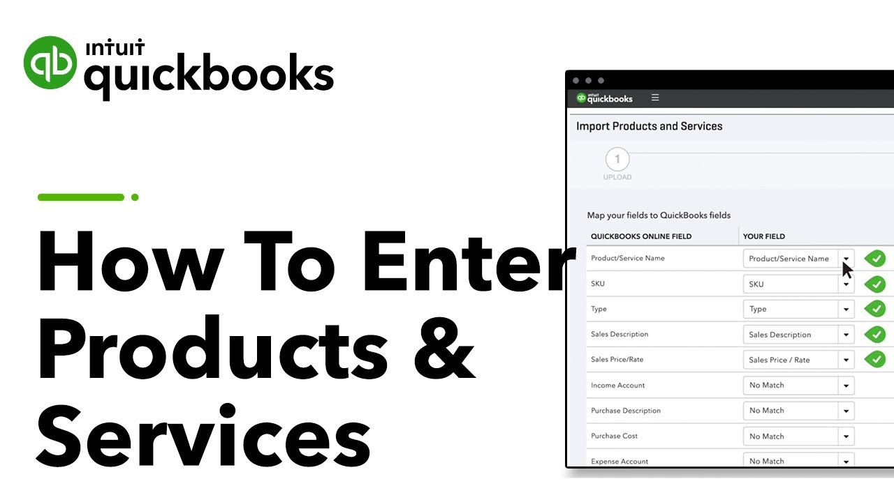 How To Enter Products And Services In QuickBooks Tutorial YouTube - Import excel into quickbooks invoice furniture online stores