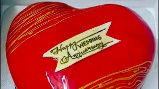 #short #Heart shape cake/strawberry flavour cake /Ainish world