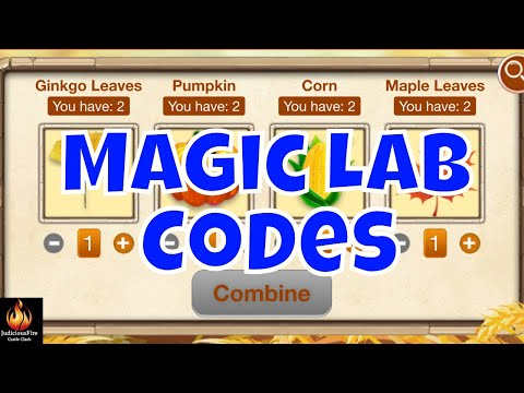Magic Lab ALL CODES Castle Clash Event