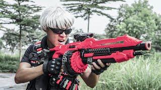 Patrol Police Black Dragon Warriors Skill Sniper Nerf Guns / Fight Wanted Criminal Group